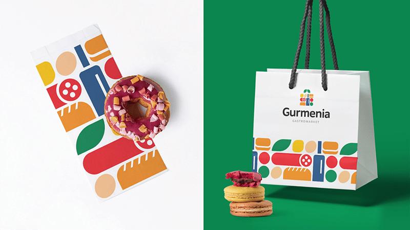gurmenia gastromarket, trendy packaging 2021, trendy graphic design