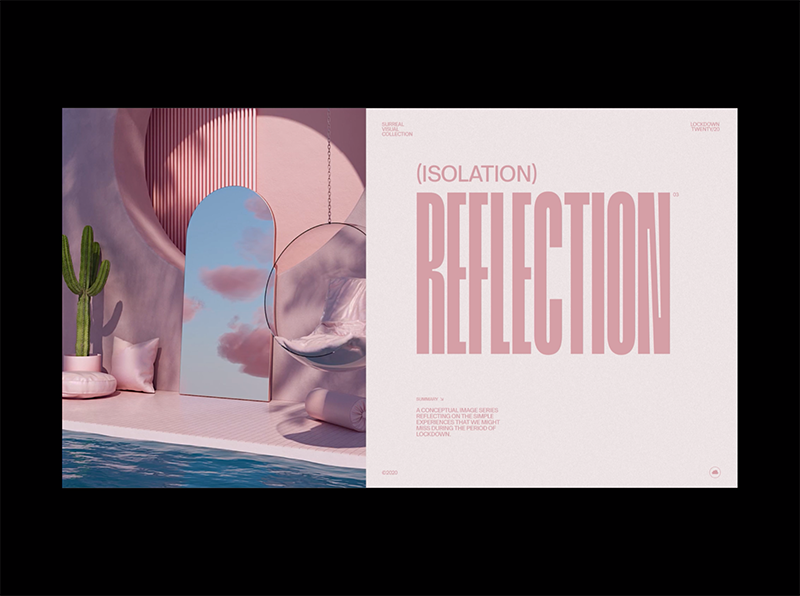 isolation reflection, typography trends 2021