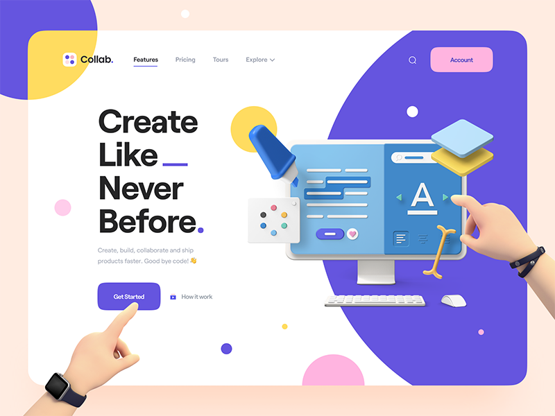 landing page kit, graphic design trends
