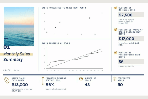 Monthly Sales Report (Landscape) template