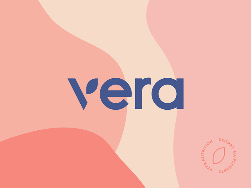vera nutrition branding, organic shapes in branding, graphic design tips