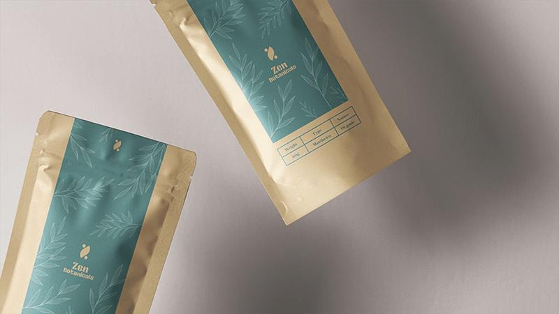 zen botanicals tea packaging, trends graphic design