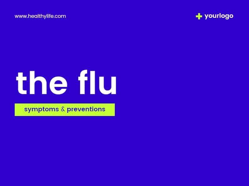 simple healthcare presentation template, design template health