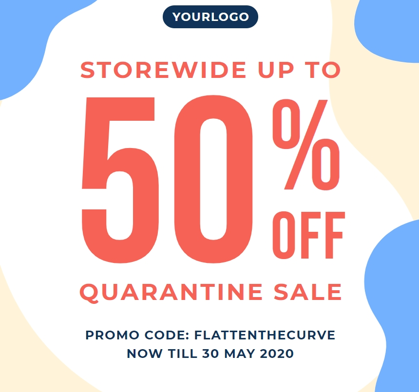 discount poster template