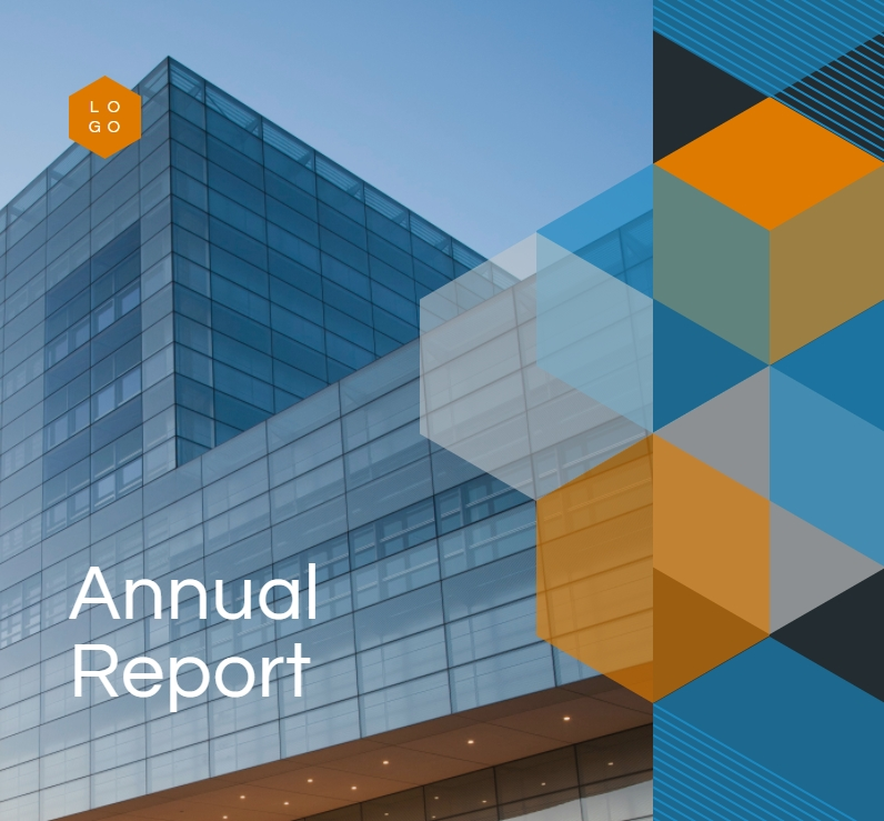 annual report cover page, report template