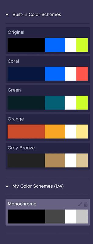 piktochart color schemes, color schemes