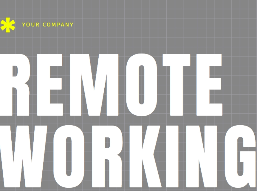 remote working templates, wfh presentation examples