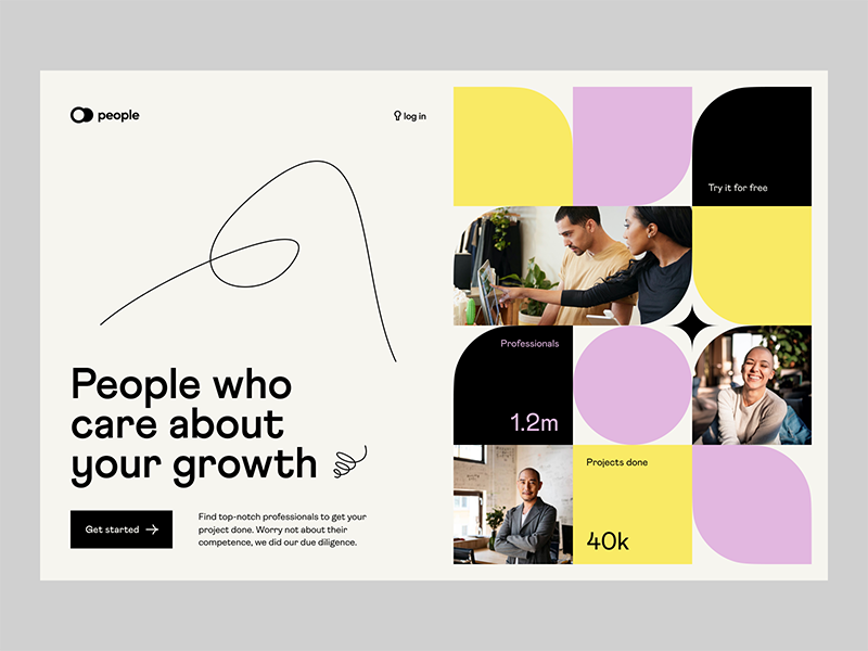 visual identity web page, website designing trends