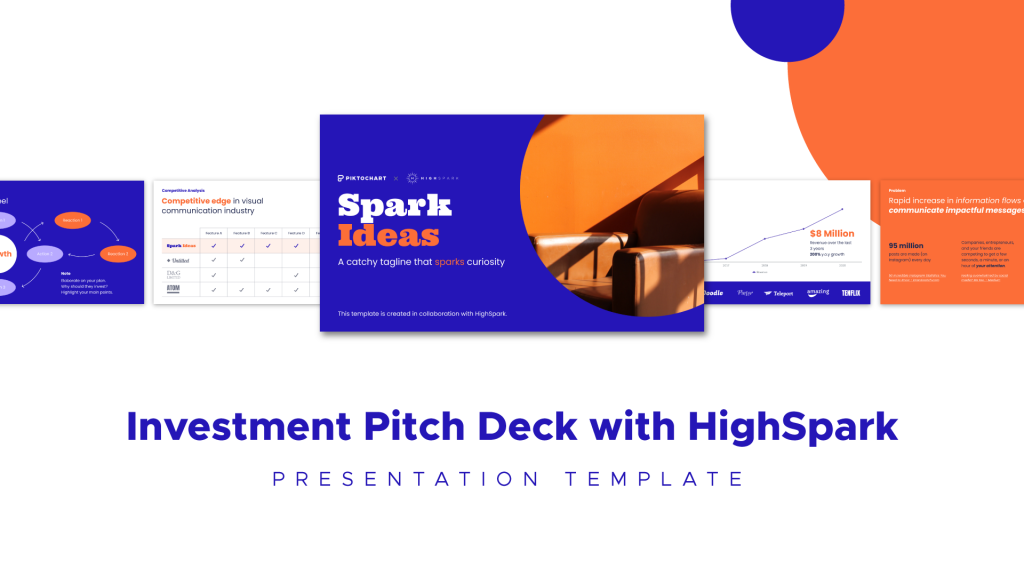 investment pitch deck, template highspark