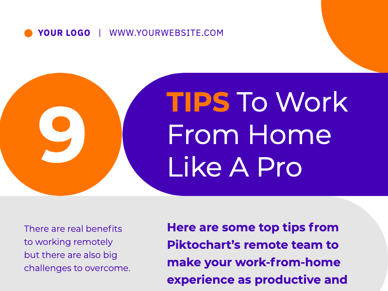remote working tips infographic