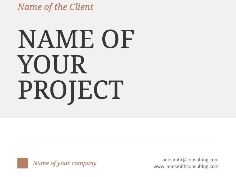Client Proposal Template