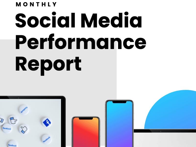 social media performance report template