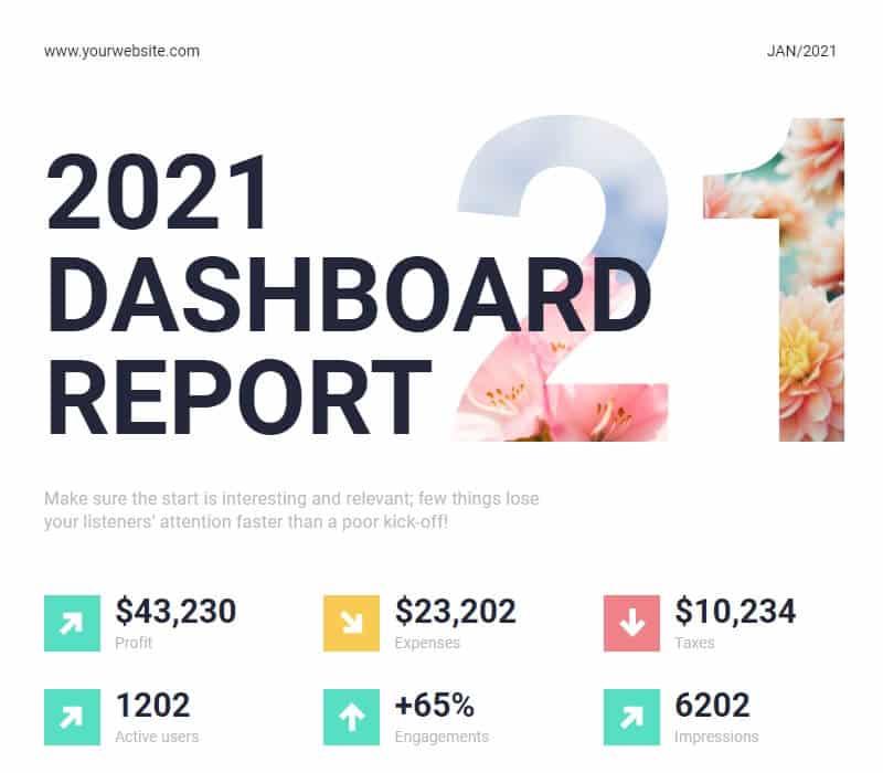 Annual dashboard report