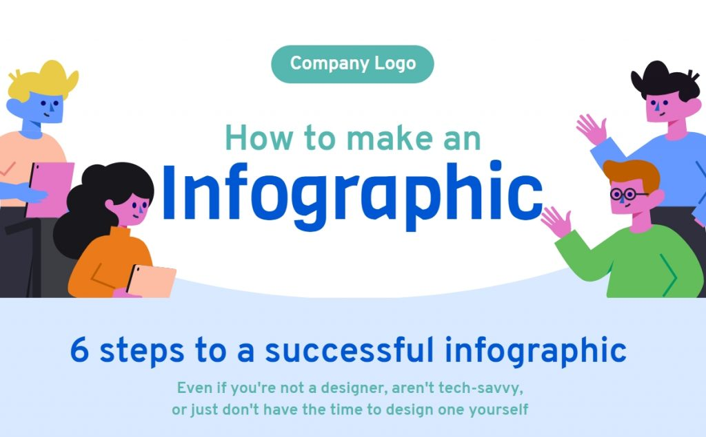 How to make an infographic - change text