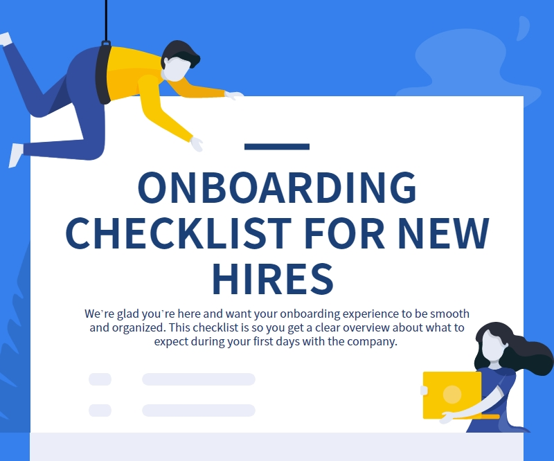 Onboarding checklist infographic
