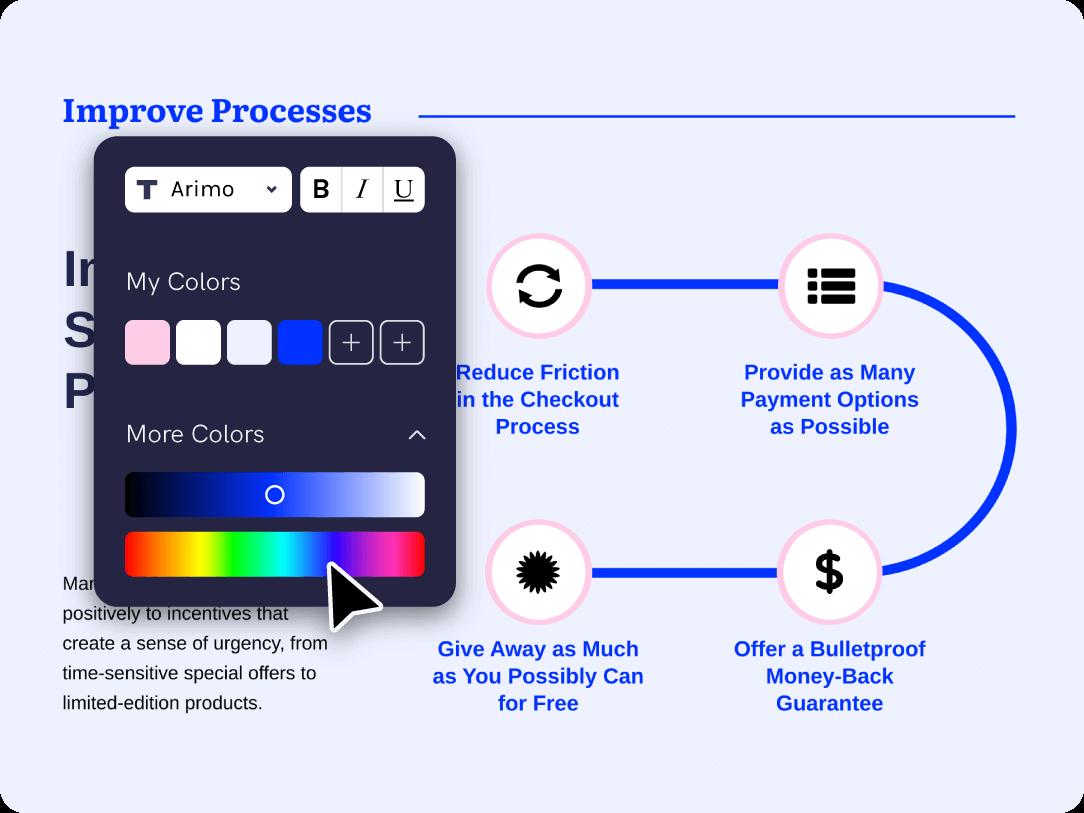 benefit - timeline maker change color