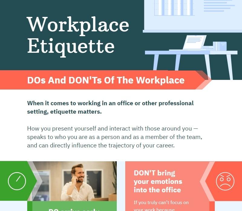 workplace etiquette comparison chart template