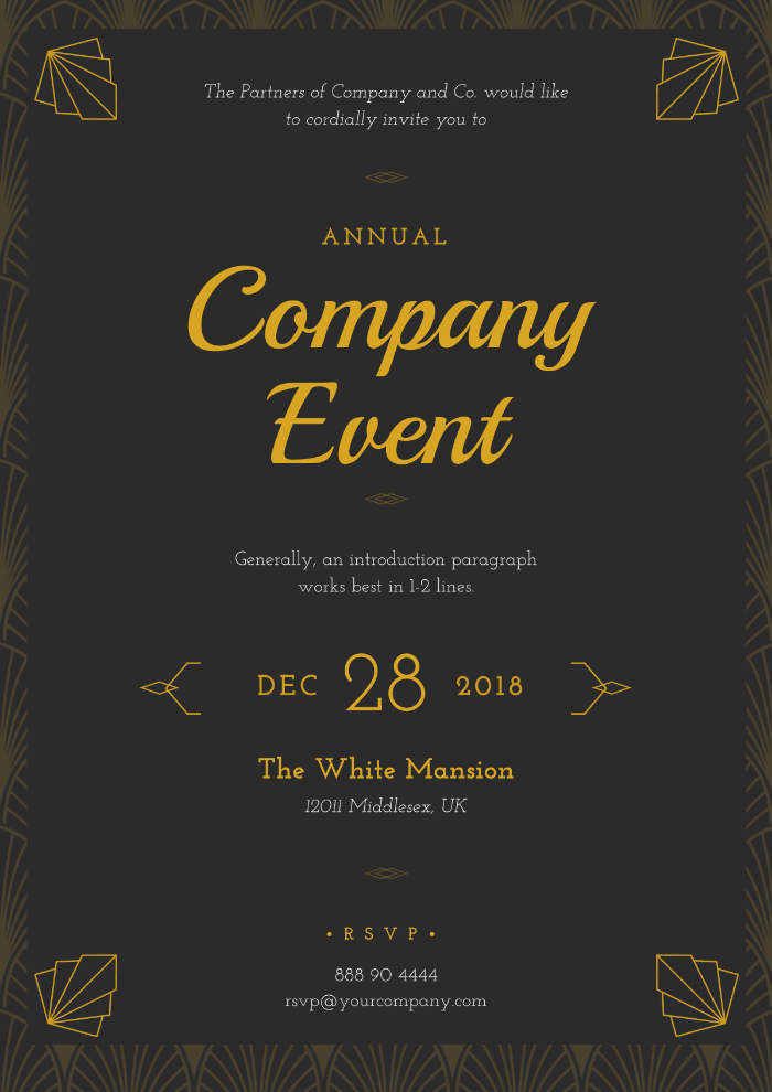 Company event poster