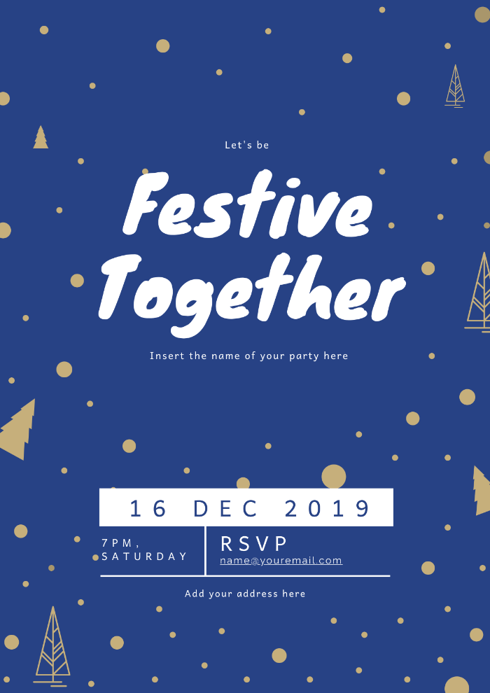 Festive event poster