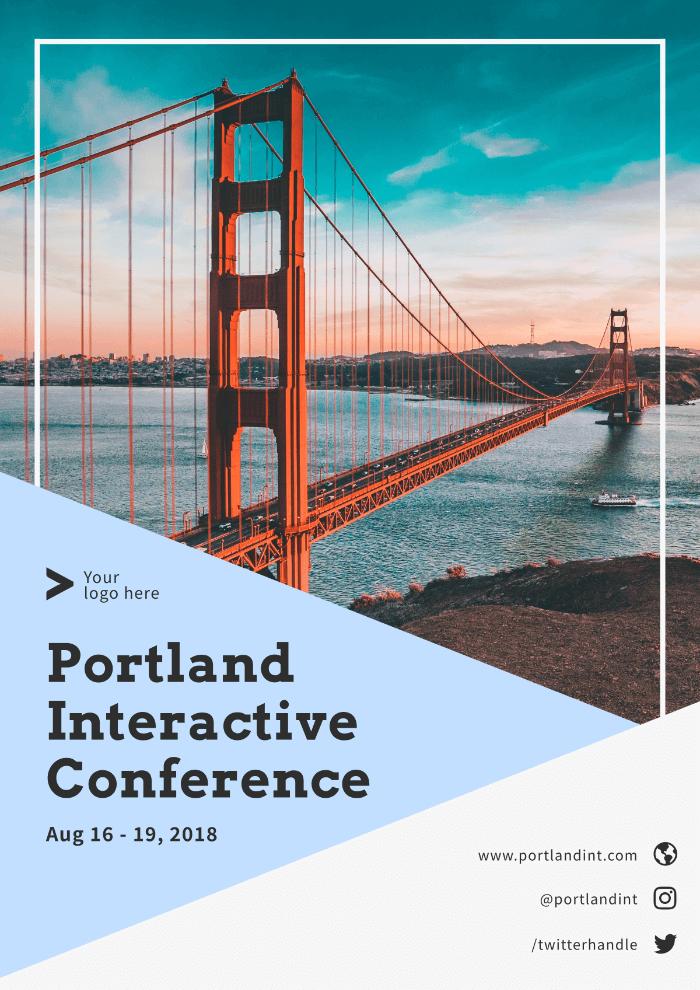 Marketing conference, poster, golden gate bridge