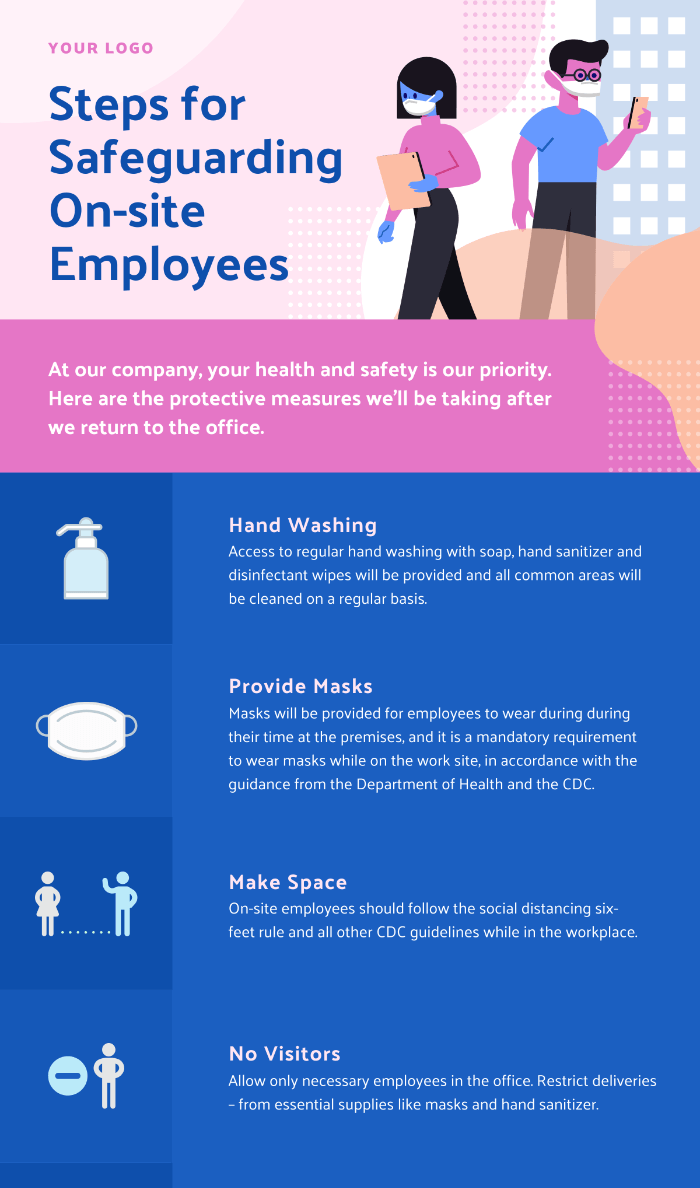 New Normal On-site Safety Infographic Template