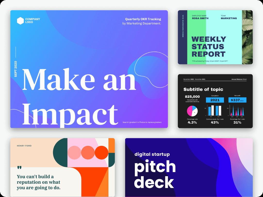 Piktochart presentations collage