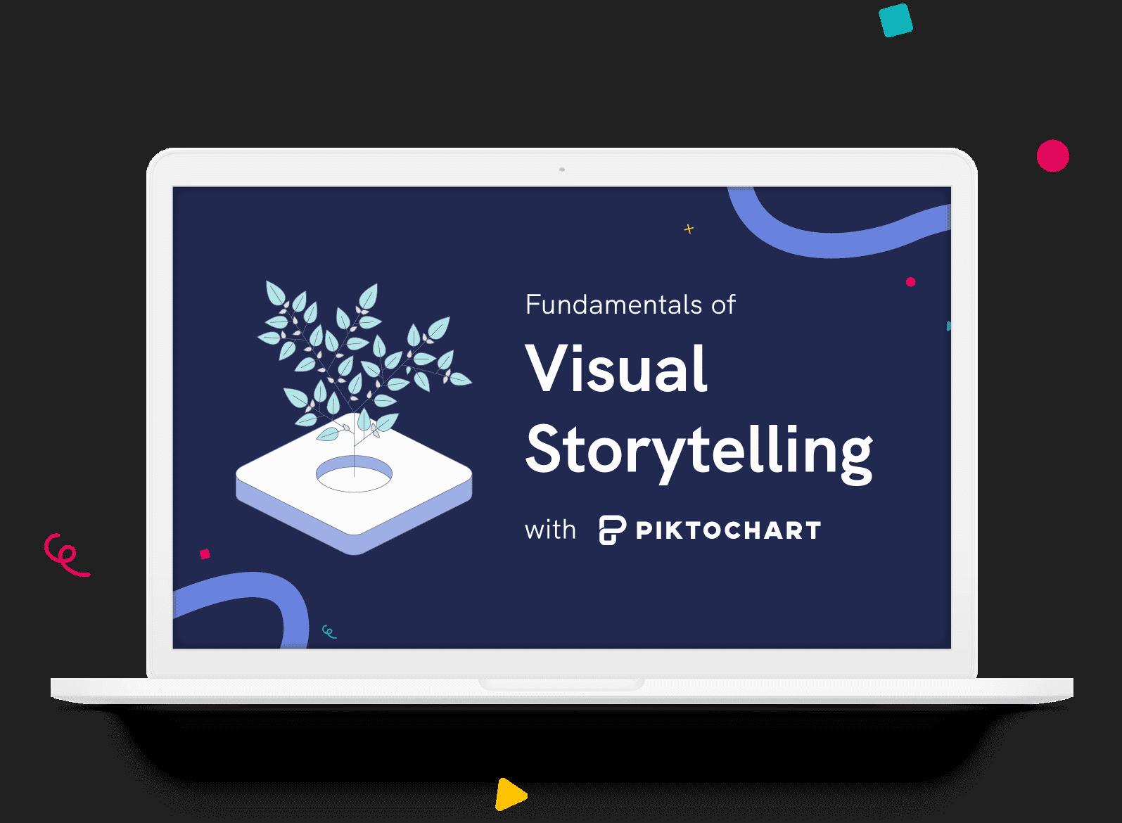 illustration showing piktochart visual storytelling course
