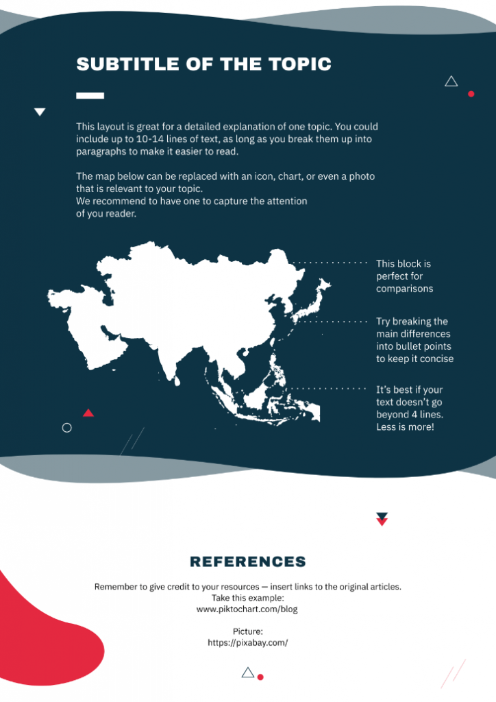 Map infographic template
