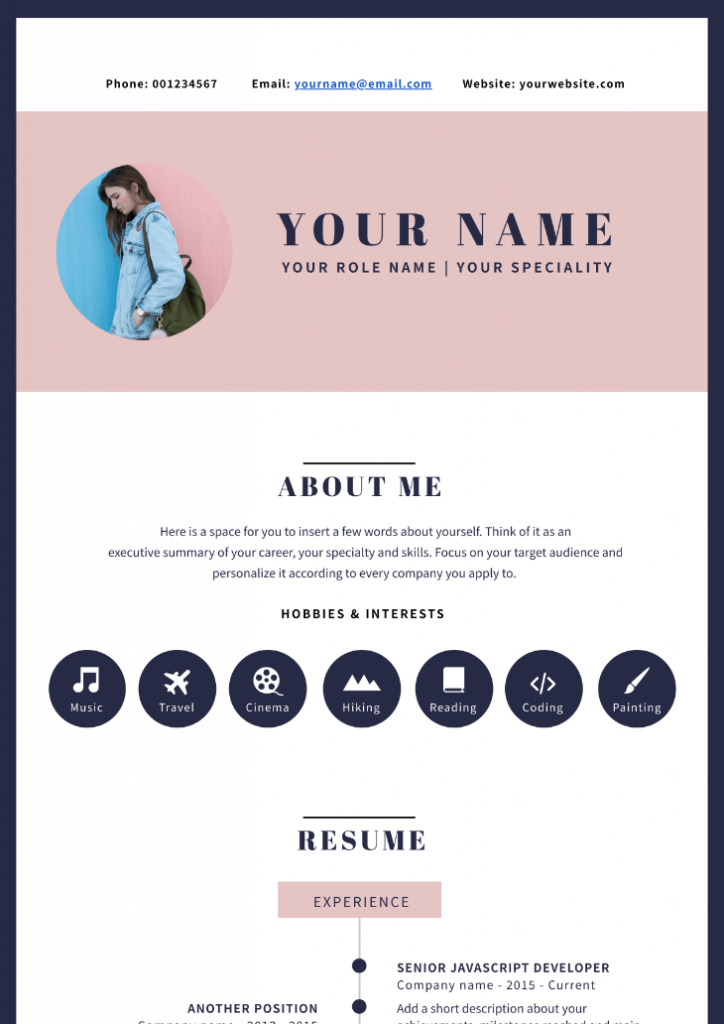 resume infographic template